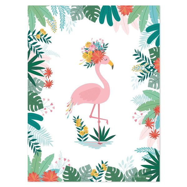 Lilipinso Lilipinso kinderposter flamingo Rio