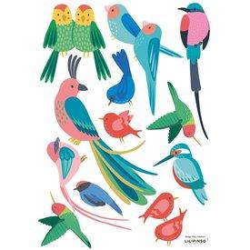 Lilipinso Lilipinso muursticker tropische vogels Rio