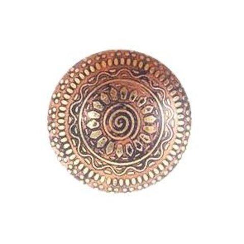 La Finesse kastknopje goud met zon patroon