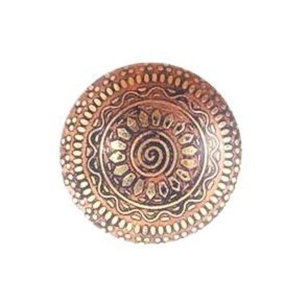 La Finesse La Finesse kastknop porselein goud met zon patron
