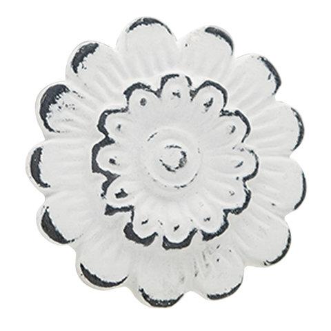 Deurknopje bloem metaal wit
