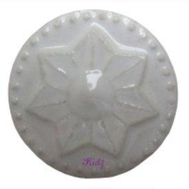 Harvey's Home Deurknop porselein ster wit groot
