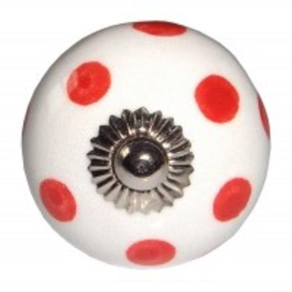 Harvey's Home Deurknop stip rood