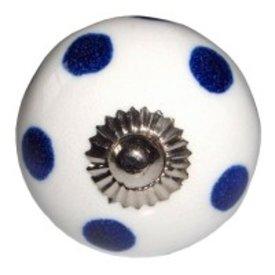 Deurknop stip donkerblauw
