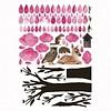 KEK Amsterdam muursticker boom beestenboel lichtroze