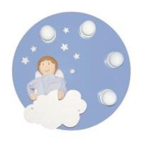 Kinderlamp plafond engel blauw