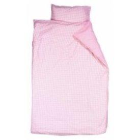 Taftan Taftan beddengoed ruitjes roze