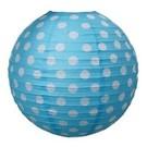 Rijstpapierlamp stippen lichtblauw