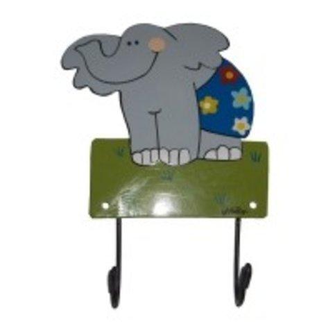 Mila kapstokje olifant blauw