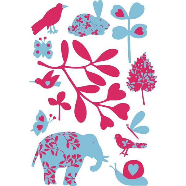 Art-Sticker Muursticker olifant en co.