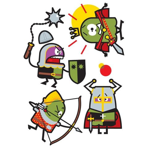 Muursticker ridders II