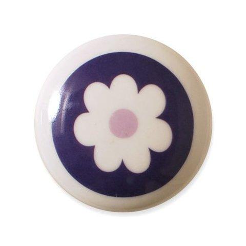 Aspegren deurknopje kinderkamer bloem donkerpaars