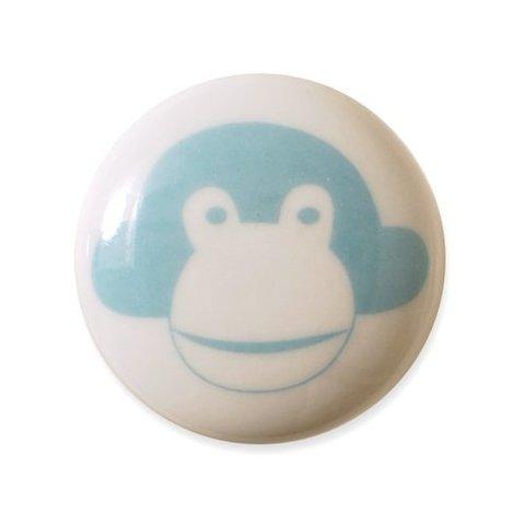 Aspegren deurknopje kinderkamer aap lichtblauw
