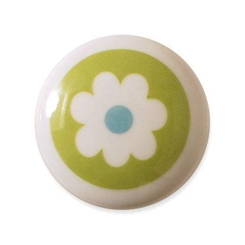 Aspegren deurknopje kinderkamer bloem groen