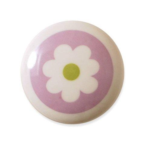 Aspegren deurknopje kinderkamer bloem lichtpaars