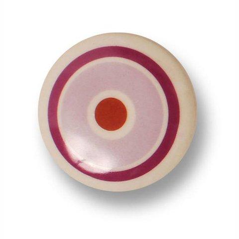 Aspegren deurknopje kinderkamer cirkels roze