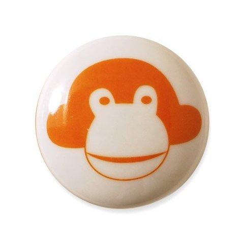 Aspegren deurknopje kinderkamer aap oranje
