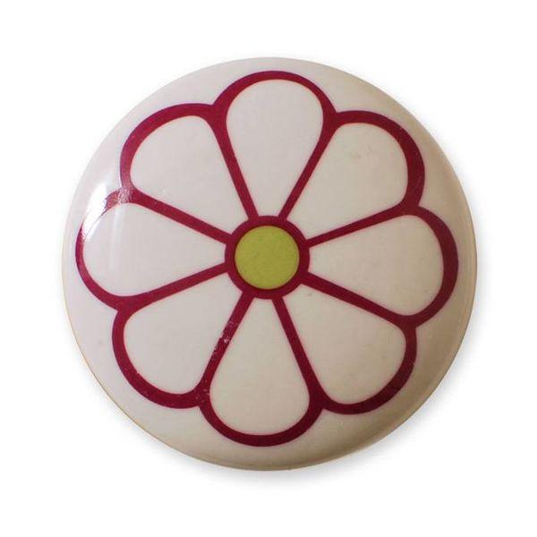 Aspegren Denmark Aspegren deurknopje bloem donkerroze