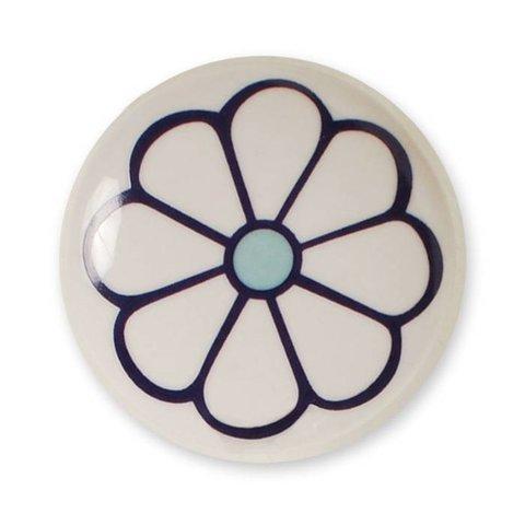 Aspegren deurknopje bloem donkerpaars blauw