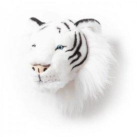 Wild & Soft Wild & Soft dierenkop tijger wit