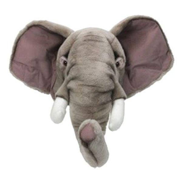 Wild & Soft Wild & Soft  beestenkop pluche  olifant