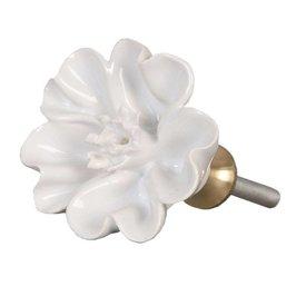 Clayre & Eef Deurknopje bloem wit