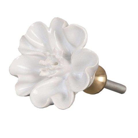 Deurknopje bloem wit