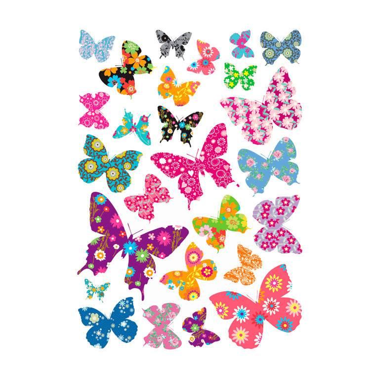 Vlinder Decoratie Babykamer.Decowall Decowall Muursticker Kinderkamer Vlinders Colourful
