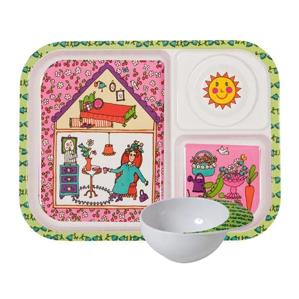 rice Denmark Rice kinderservies set garden lady
