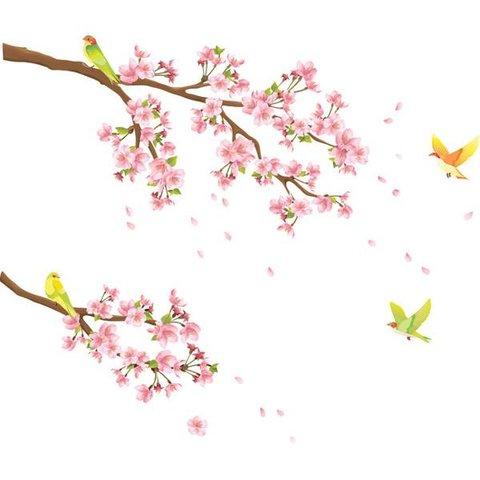 Decowall muursticker bloesem met vogels