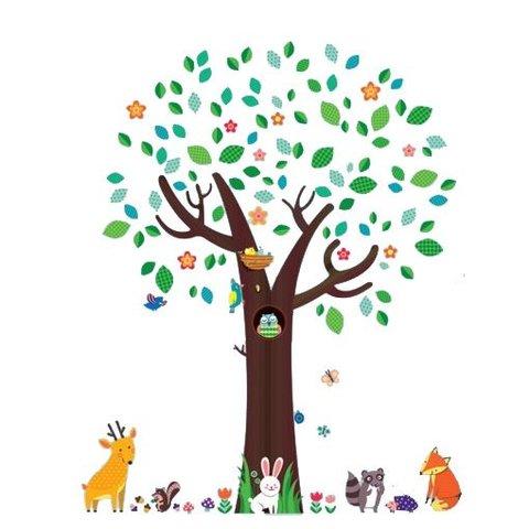 Decowall muursticker boom met dieren