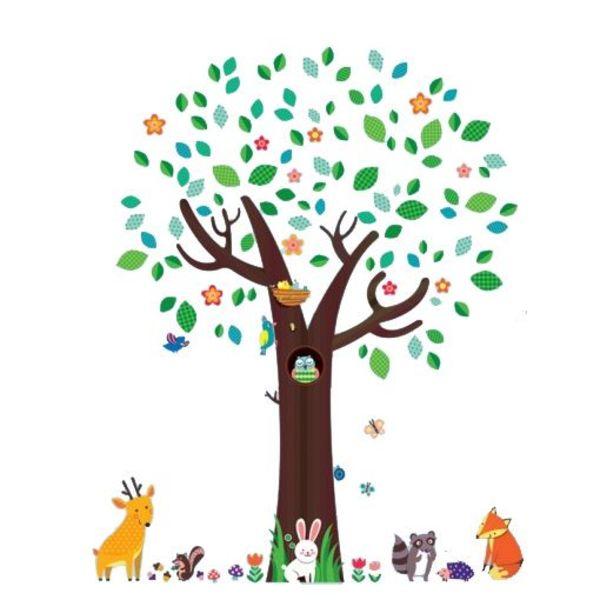 Decowall Decowall muursticker boom met dieren