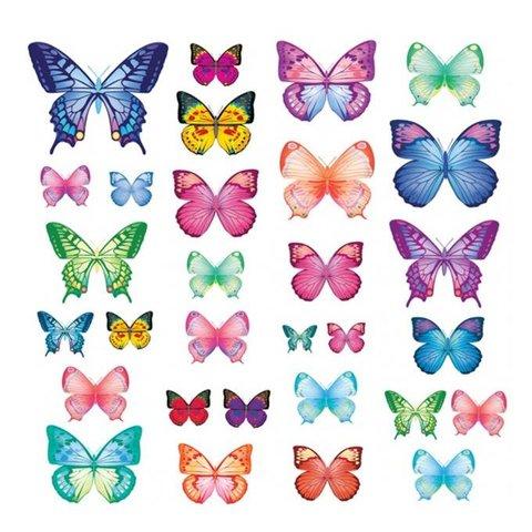 Decowall muursticker vlinders vibrant butterflies groot