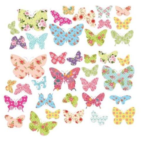 Decowall muursticker kinderkamer kleurrijke vlinders