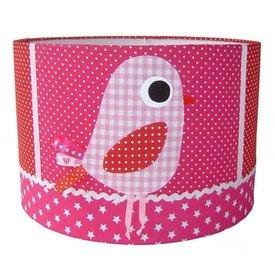 Designed4Kids Designed4Kids kinderlamp vogel roze