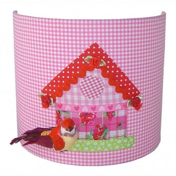 Designed4Kids Designed4kids wandlamp vogelhuisje roze