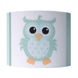 Designed4Kids Designed4kids wandlamp uil mint groen