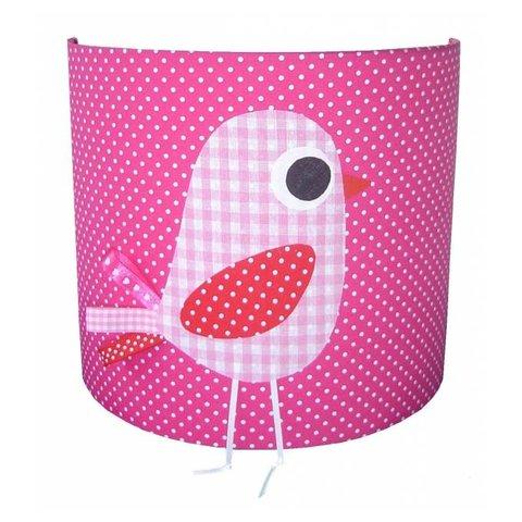 Designed4kids wandlamp kinderkamer vogel roze