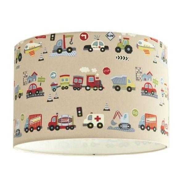 Designed4Kids Designed4Kids kinderlamp voertuigen beige