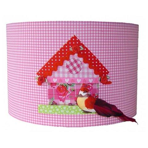 Designed4Kids kinderlamp vogelhuisje roze