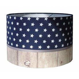 Designed4Kids Designed4Kids kinderlamp sterren met houtprint