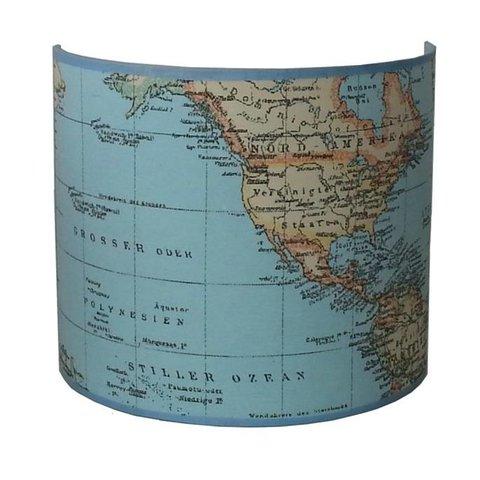 Designed4kids wandlamp wereldkaart