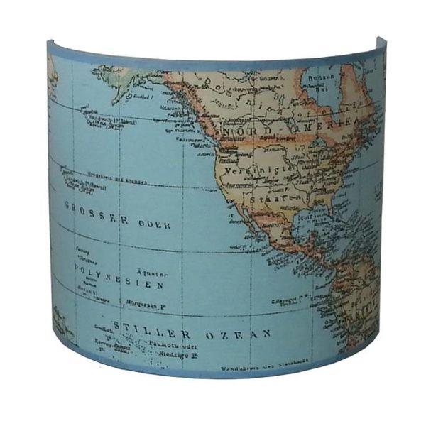 Designed4Kids Designed4kids wandlamp wereldkaart