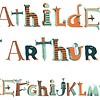 Djeco muursticker piraten alfabet