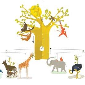 Djeco Djeco mobiel Afrikaanse savanne