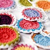 Engelpunt feestslinger gehaakte bloemen rise and shine