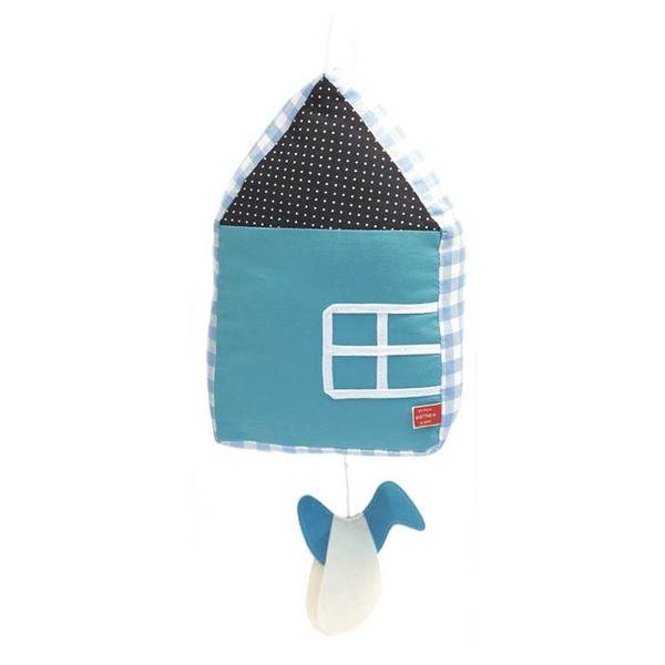Esthex Esthex muziekdoos huisje blauw
