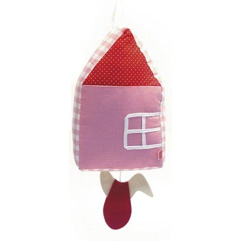 Esthex muziekdoos huisje roze