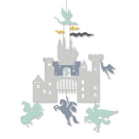 Djeco mini mobiel kasteel en draken