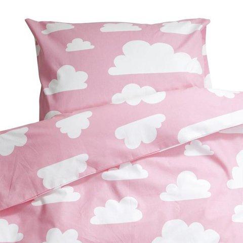 Farg & Form dekbedovertrek wolkjes roze